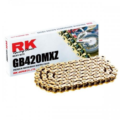 RK 420MXZ x 126L MX Race Chain Gold