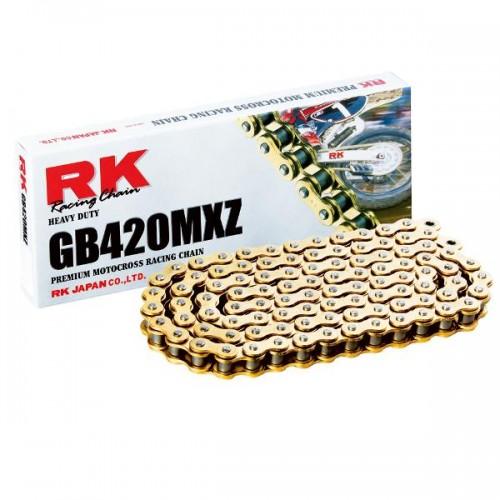 RK 420MXZ x 136L MX Race Chain Gold