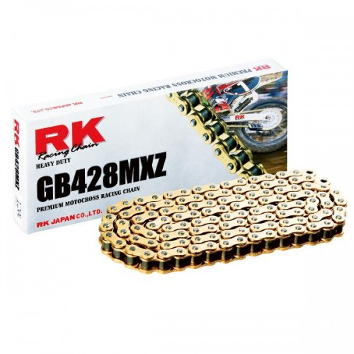 RK 428MXZ x 126L MX Race Chain Gold