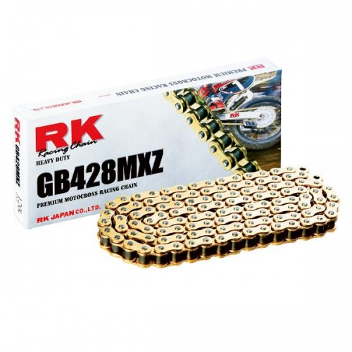 RK 428MXZ x 136L MX Race Chain Gold