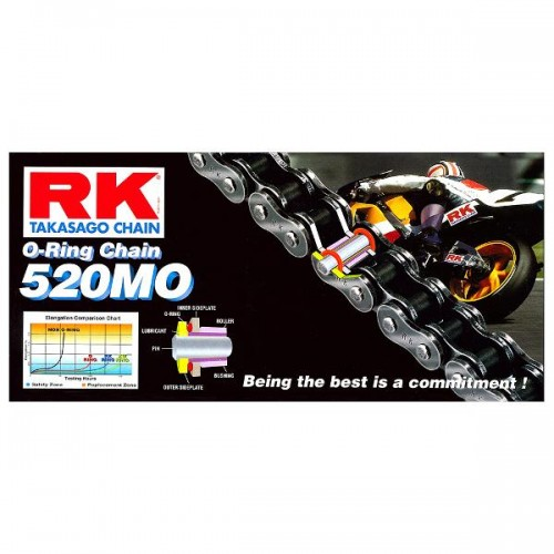 RK 520MO x 120L O Ring Chain Gold