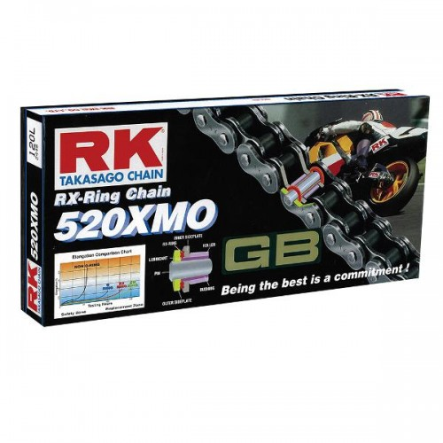 RK 520XMO x 120L X Ring Chain Gold
