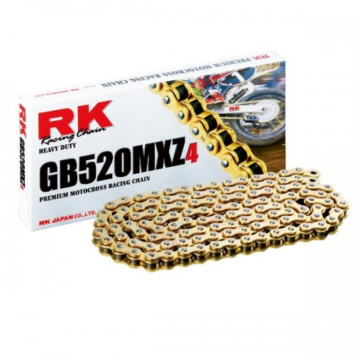 RK 520MXZ x 120L MX Race Chain Gold