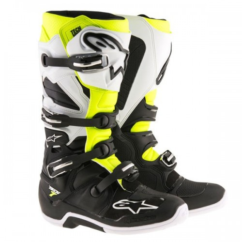AlpineStars TECH 7 Boot Black White Yellow