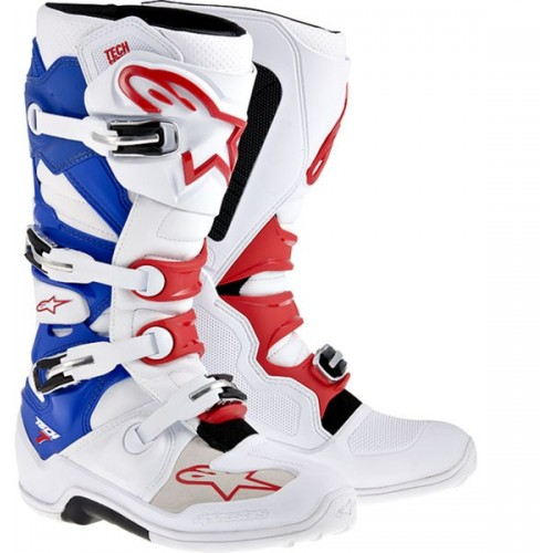 AlpineStars TECH 7 Boot Wht/Red/Blue