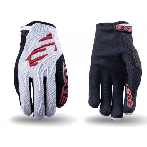Five MXF-3  MX Glove WHITE/RED