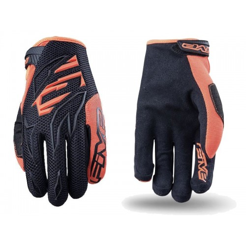 Five MXF-3  MX Glove BLACK/FLUO ORANGE