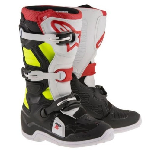 Alpine Star TECH 7 BOOT YOUTH BLK/WHT/RED/FluroYel