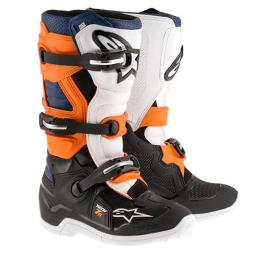 Alpine Star TECH 7 BOOT YOUTH BLK/ORG/ White/Blue