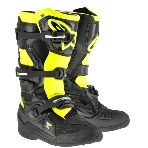 Alpine Star TECH 7 BOOT YOUTH Black Fluro Yellow
