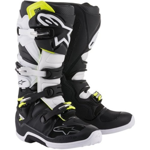 AlpineStars TECH 7 BOOT Black White Fluro Yellow