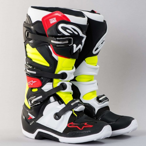 AlpineStars TECH 7 BOOT BLK/RED/YELLOW