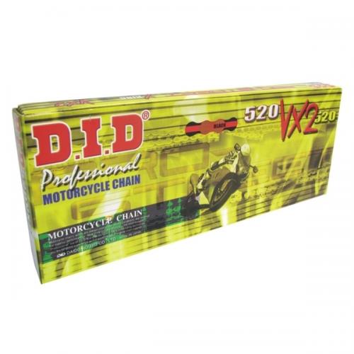 D.I.D 520 VX2 Gold/Black Pro X-ring Motorcycle Chain